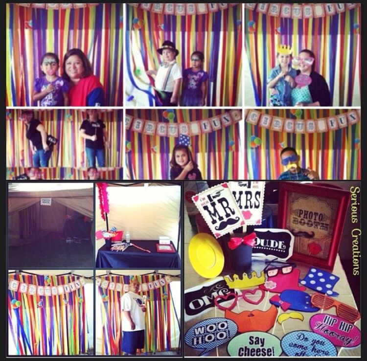 My Circus themed DIY photobooth, props & backdrop for kids bday #seriouscreations