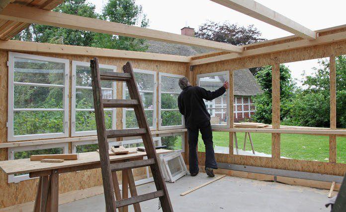 Gartenhaus selber bauen Gartenhaus selber bauen, Fenster