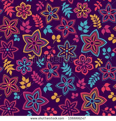 Abstract Summer Flowers Wallpaper Texture