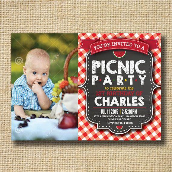 Printable picnic birthday party invitation picnic party invitation printable picnic birthday party invitation picnic by creativelime filmwisefo