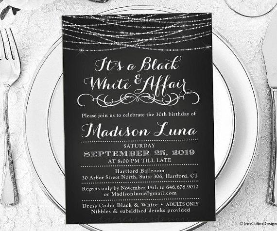 all white party invitation ideas