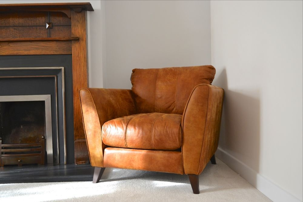 Leather Chair Dfs Kennedy Armchair Brown Leather Bnwt Brown