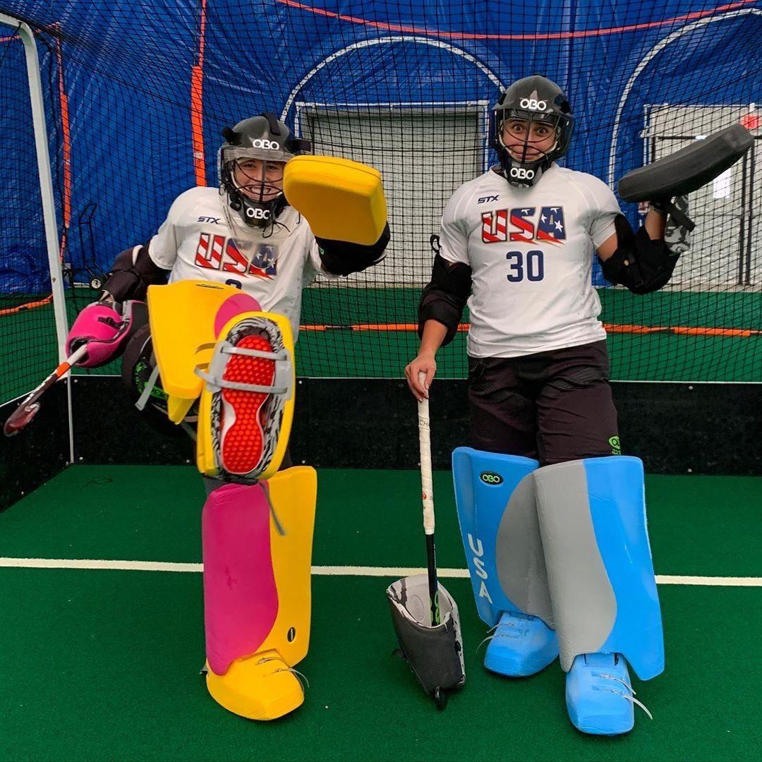 Happy Friday From Our Sponsored Obogoalkeepers Jessjecko Kealsie Monique Custom Pad Hockey Equipment Field Hockey Equipment Field Hockey Goalie