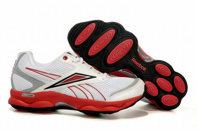 2824e1a02dd reebok runtone action running shoes red and white for women ...