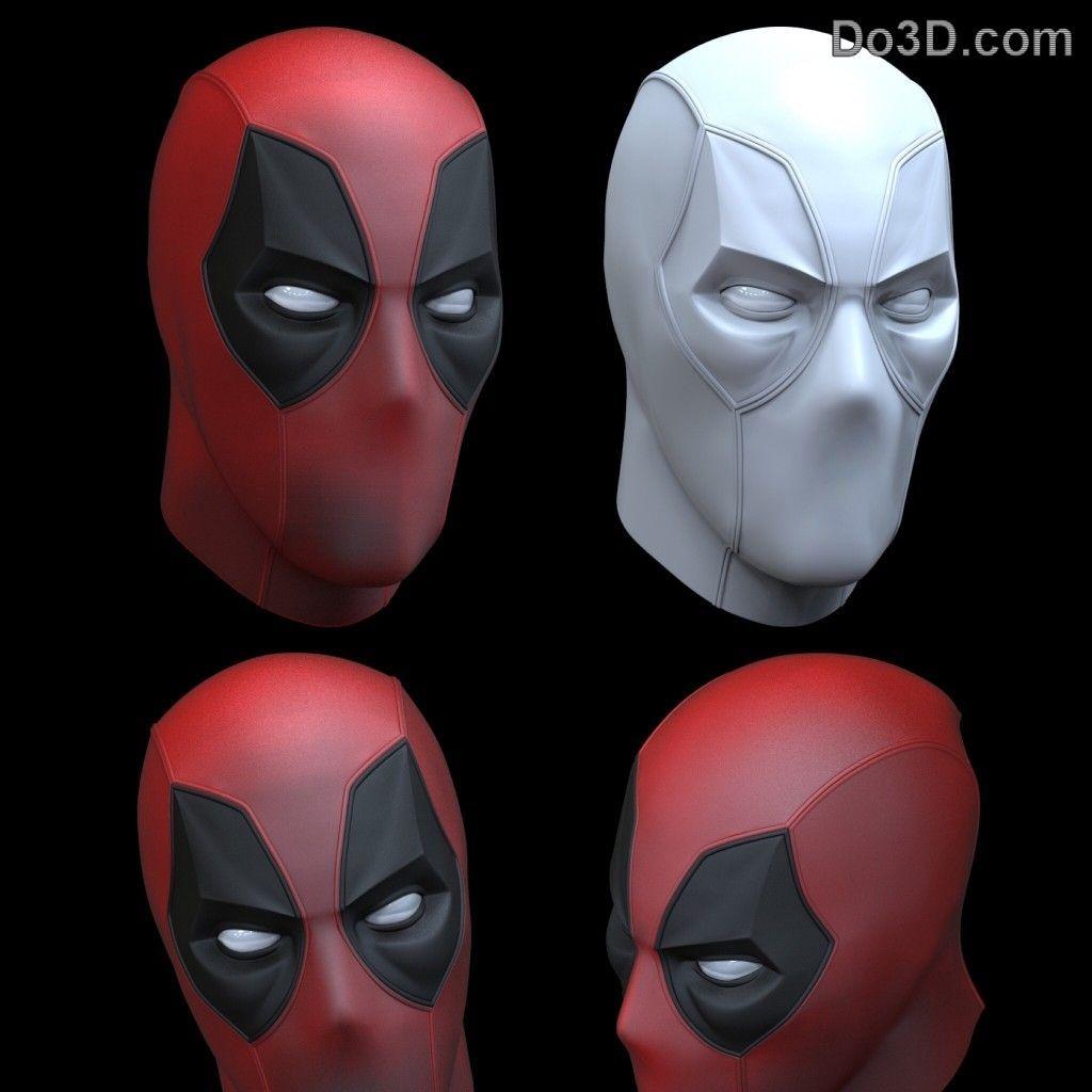 Deadpool 3d Printable Helmet Mask 10 Different Eye Expressions Stl Eye Expressions Eye Drawing Deadpool Mask