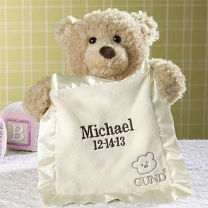 Embroidered PeekABoo Gund® Bear Personalised teddy