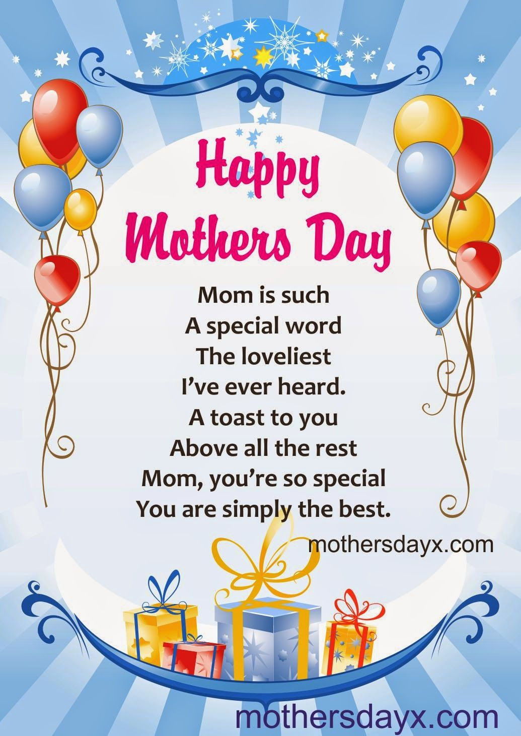 Mothers Day Short Poems For Mom
