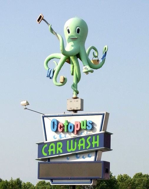 Octopus Car Wash Sign Car Wash Car Wash Sign Sign Art