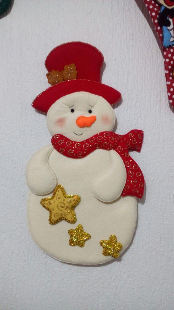 Aprende Hacer Colgantes De Pared Navideños Con Moldes Paso A Paso Curso Gratis De Manualidades Felt Christmas Ornaments Felt Crafts Christmas Felt Christmas