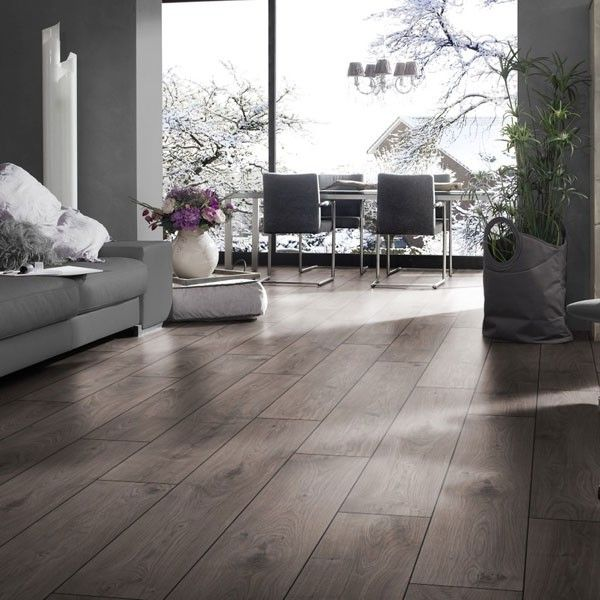 Atlas Grey Oak Anthracite Kronotex Laminate Flooring 12mm Golf