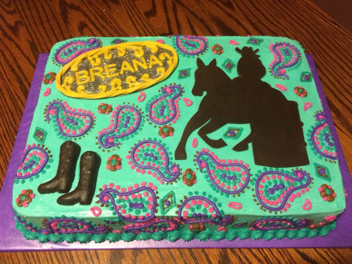 Barrel Racer Cake Cowboy Birthday Cakes Horse Birthday Cake