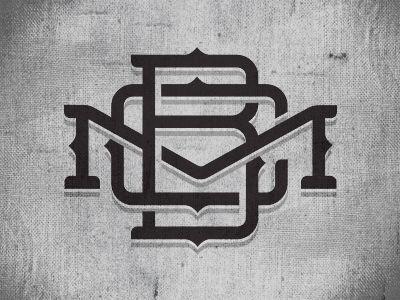 BCM Lockup Typography Monogram logo, Graphic design branding