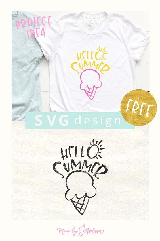 Free Svg File: Hello Summer   Cricut   Svg file, Svg files