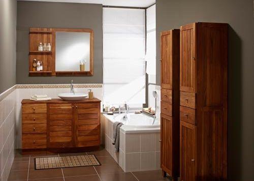 Meuble en teck de salle de bain une belle salle de bain - Devis salle de bain leroy merlin ...