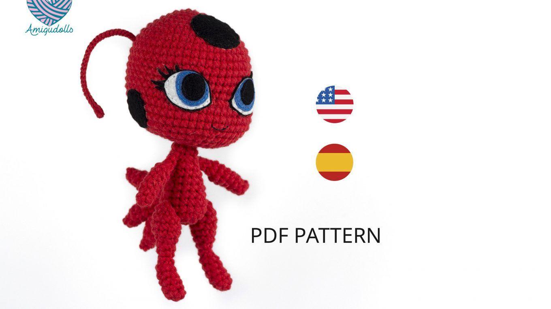 Boneca Ladybug Amigurumi - 23cm - R$ 150,00 em Mercado Livre | 765x1360