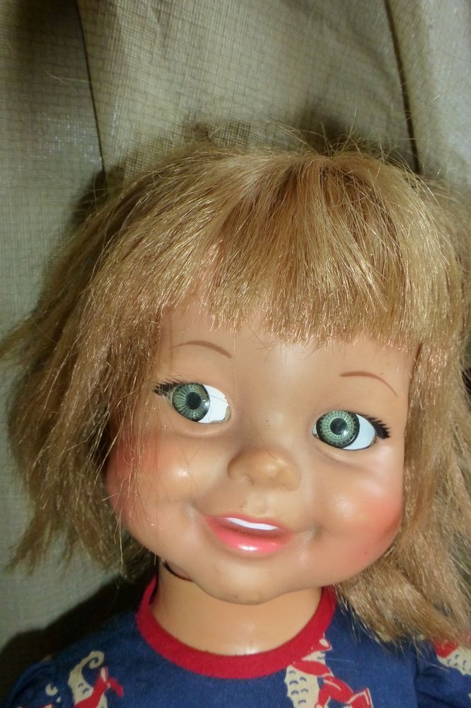 Vintage Ideal Baby Giggles Doll Gg 18 H 77 Head Eyes Move No Giggle