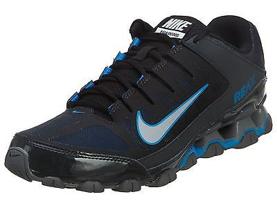 Nike Reax 8 Tr Msl Mens 616273-018 Black Blue Athletic Training Shoes Size  9.5