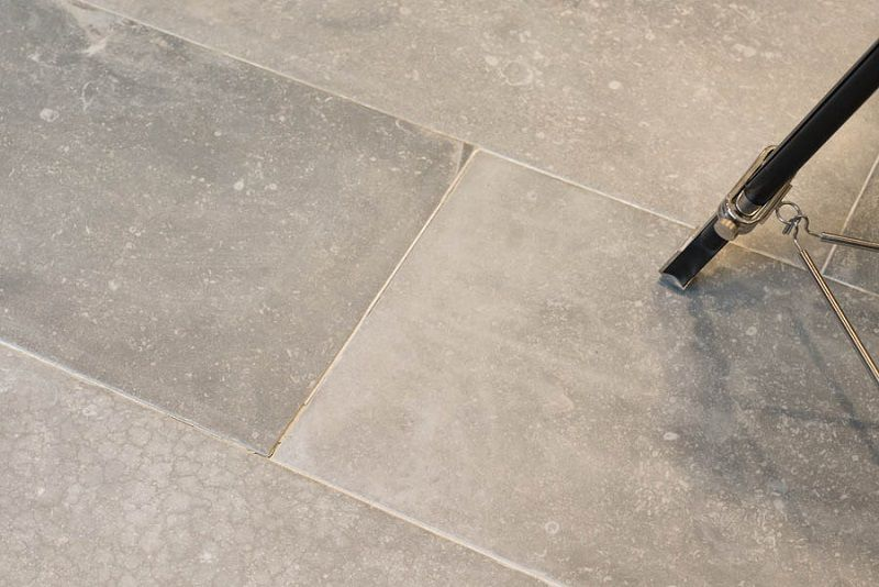 Stunning Belgian Blue Limestone Effect Tile Reproduced In The