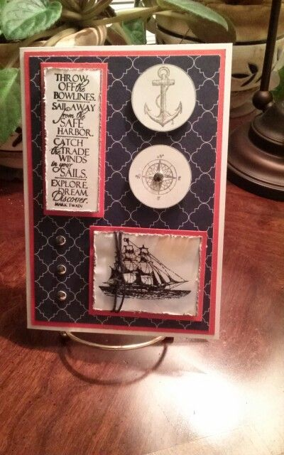 Used Stampin Up  The Open Sea set for images and Impression Obsession stamp for the sentiment.