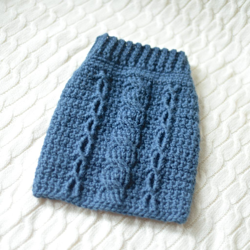 Free Charity Crochet Pattern: Cabled Dog Sweater   Pinterest