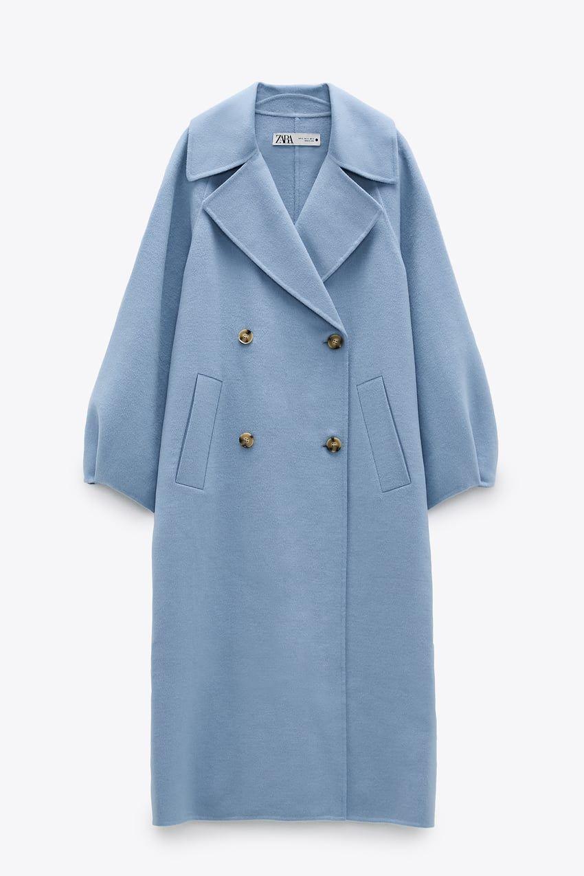 Limited Edition Wool Blend Coat Zara International Blue Coat Outfit Wool Blend Coat Zara Coat [ 1275 x 850 Pixel ]