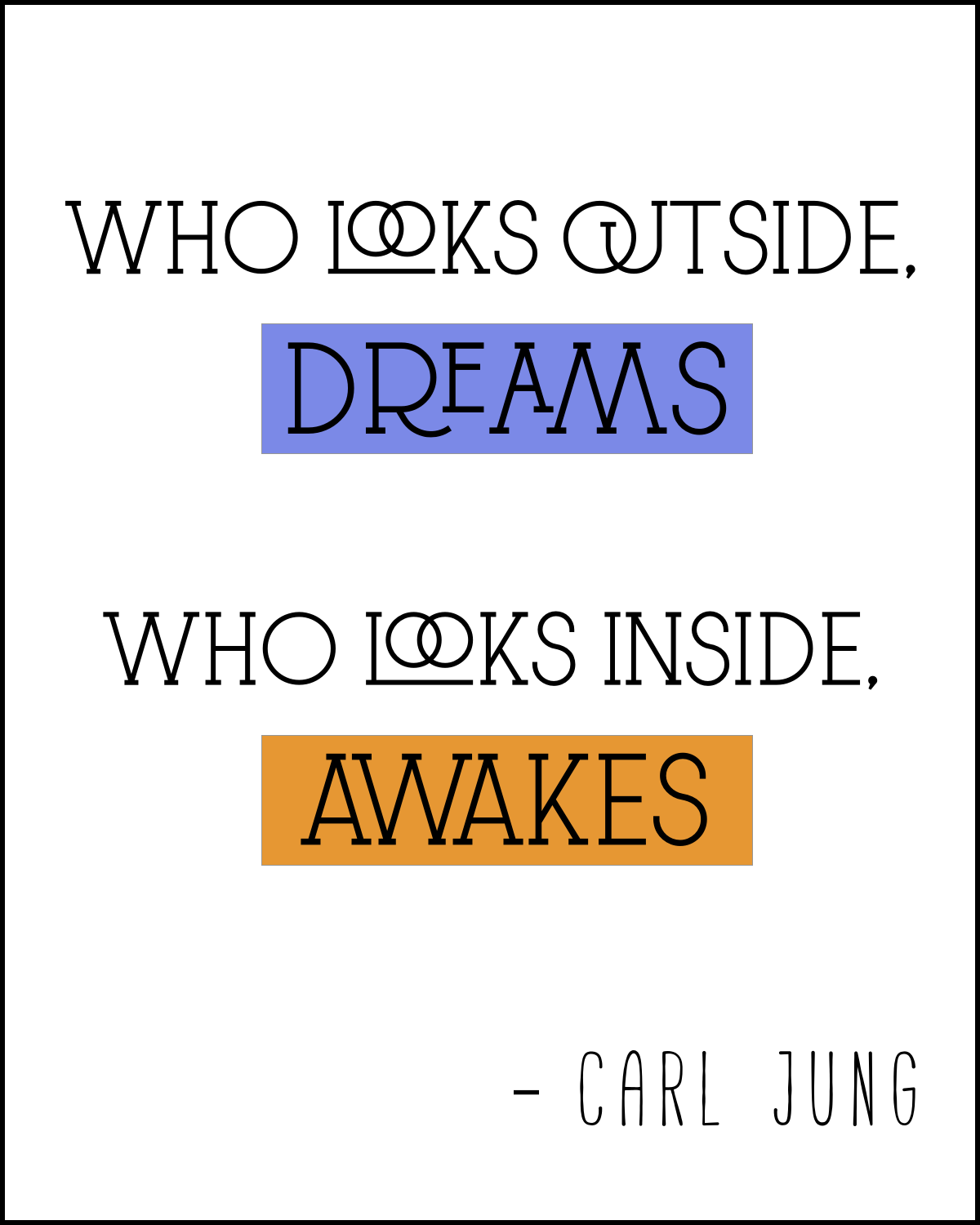 Beautiful Quote Carl Jung Quote Print  8X10