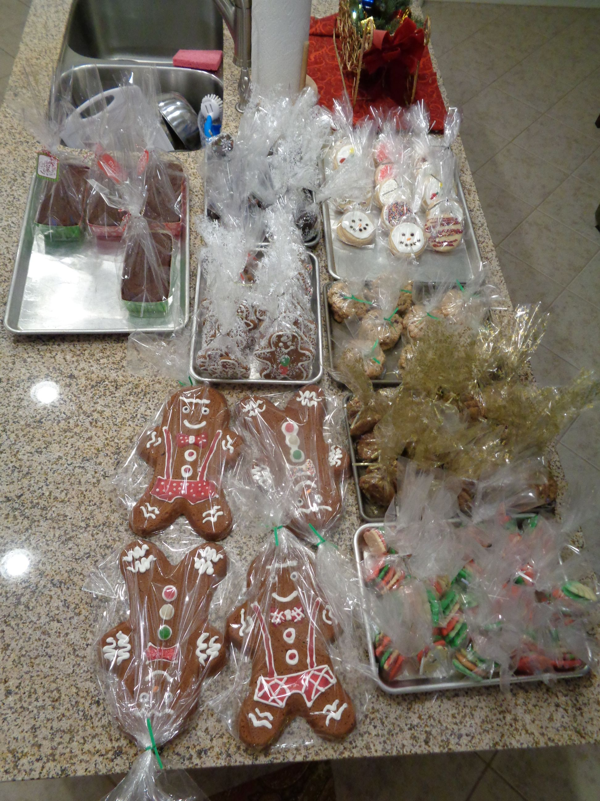 I made 330 assorted cookies, 4 Old Fashion Gingerbread and