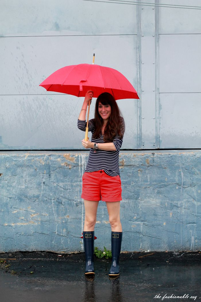 How To Wear Rain Boots featuring Joules | Rainy day ...