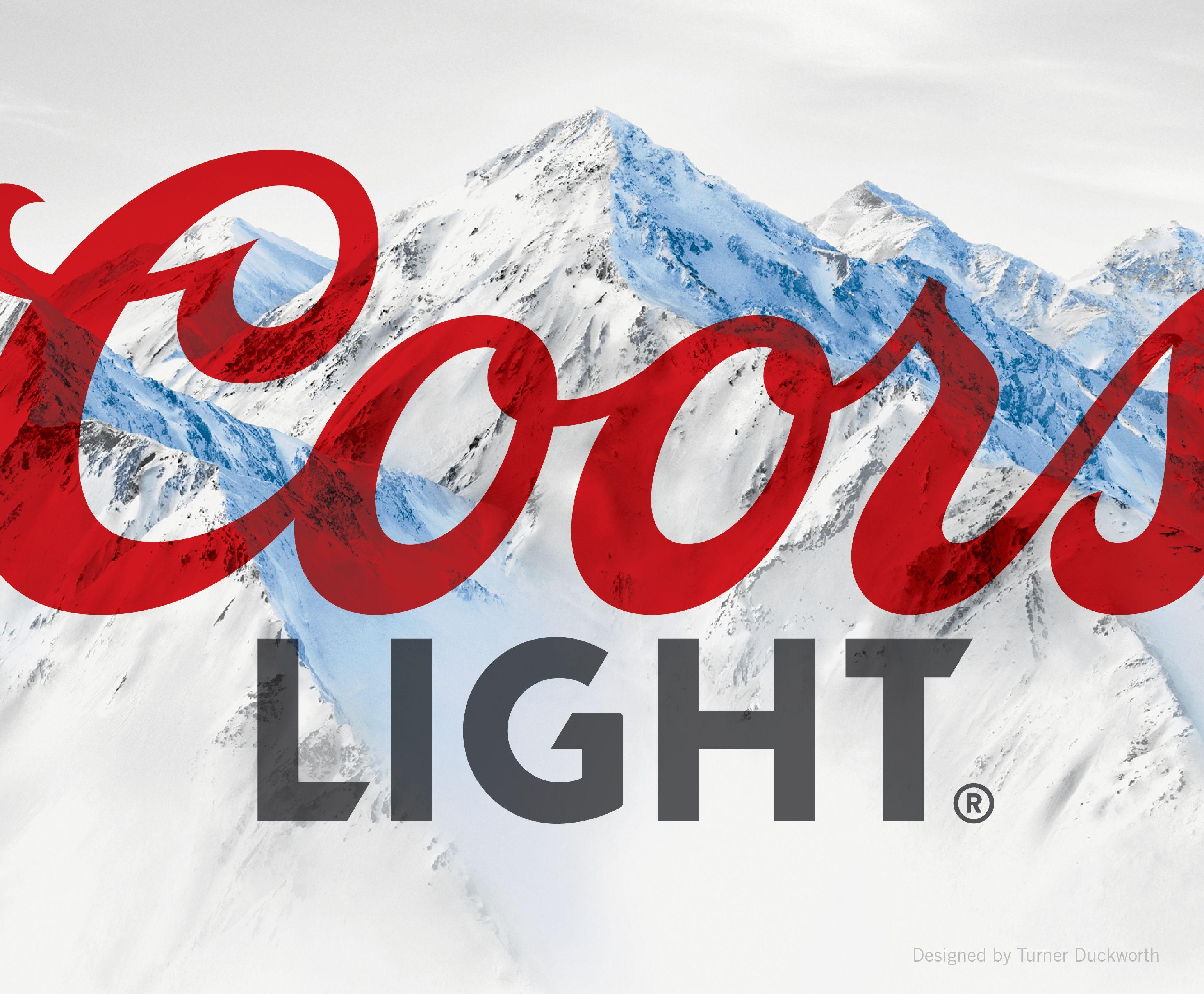 Coors Light Visual Identity. Designed by Turner Duckworth