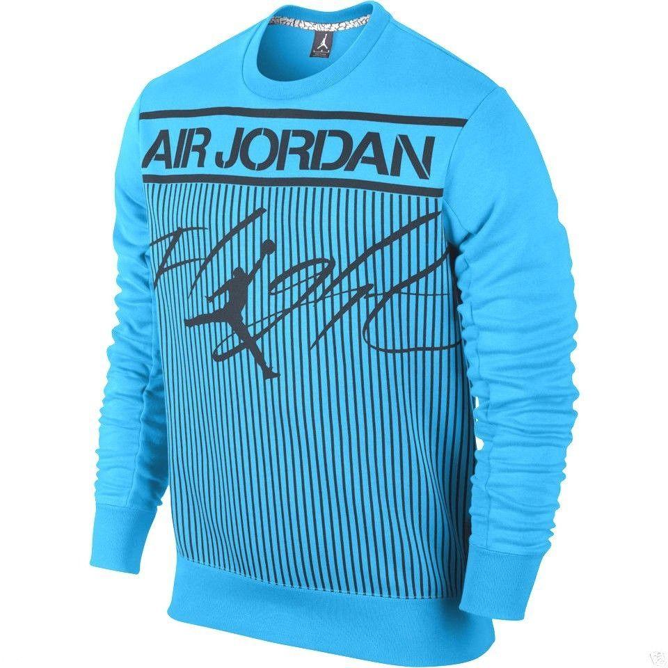 2617e06b09c8 MEN S NIKE SWEATSHIRT CREW COLOSSAL FLIGHT FLEECE JORDAN SIZE XL 606312 NEW   Nike  SweatshirtCrew