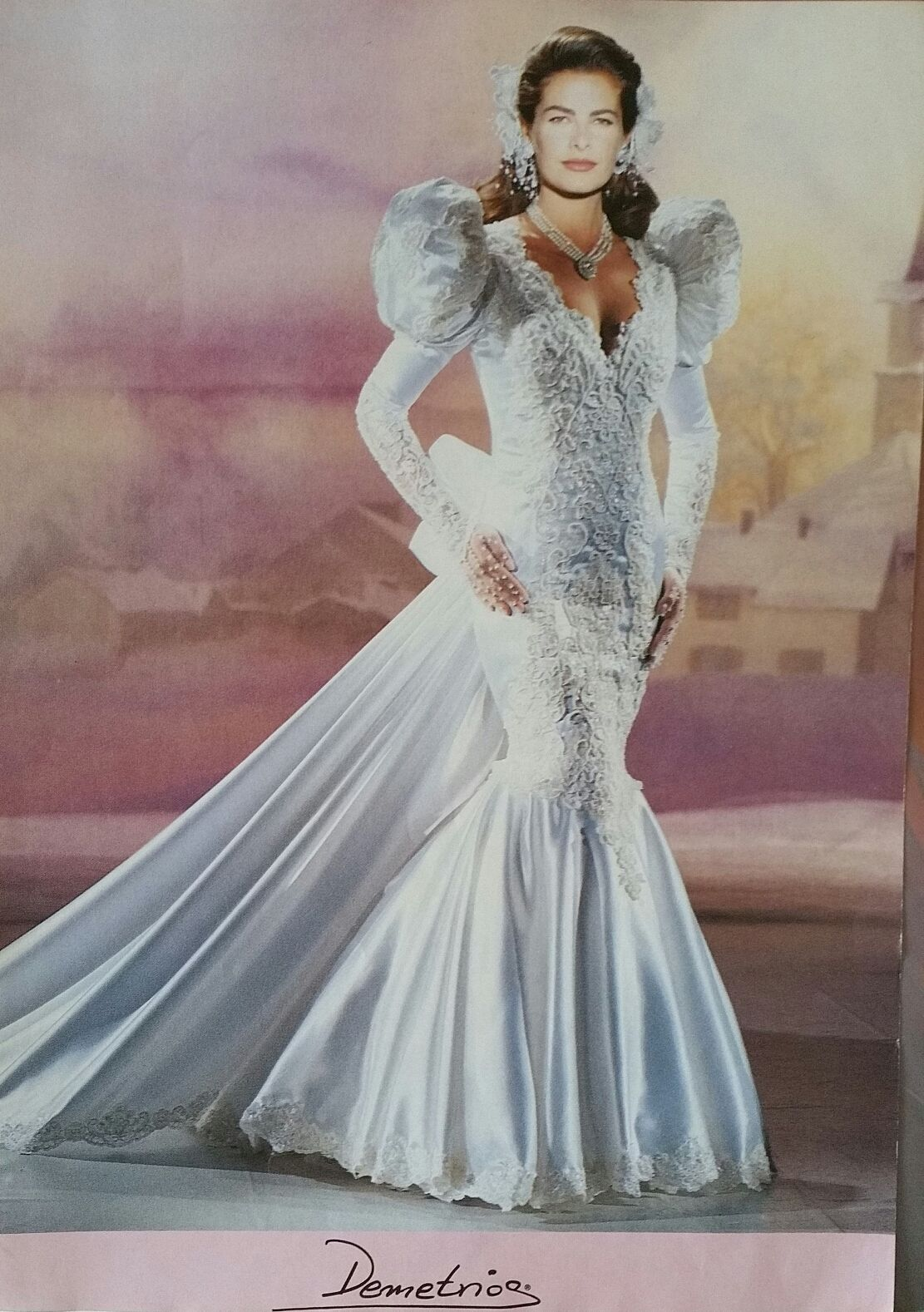 Mermaid dress Demetrios 1993, similar
