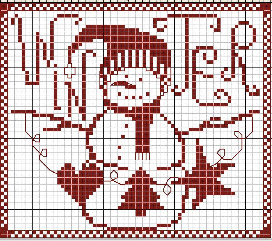 winter | CROSS-STITCH | Pinterest | Crochet navideño, Punto de cruz ...