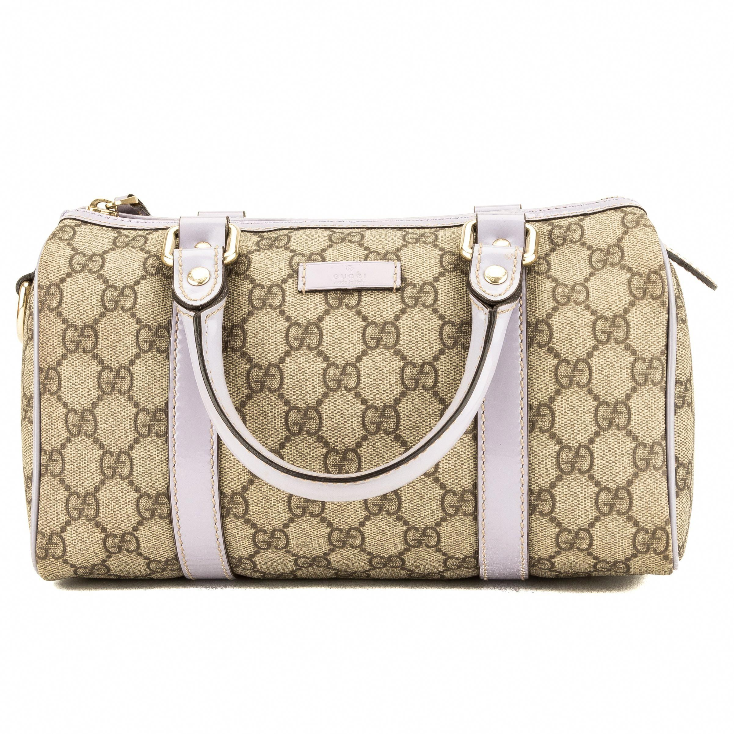 4ccc96d2d86 Gucci Lavender Leather GG Small Joy Boston (3956010) #Guccihandbags ...