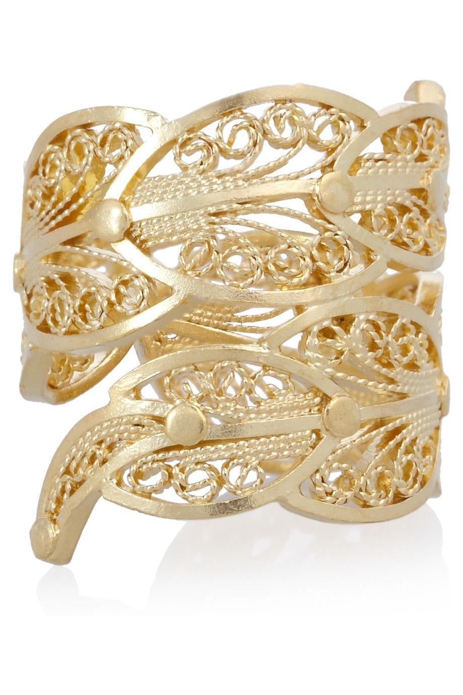 Mallarino Paloma 24-karat gold-vermeil ring   Jewelry ...