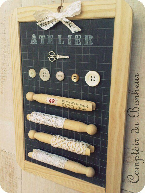 Petite ardoise d co pour l 39 atelier comptoir du bonheur - Les comptoirs du bricolage ...