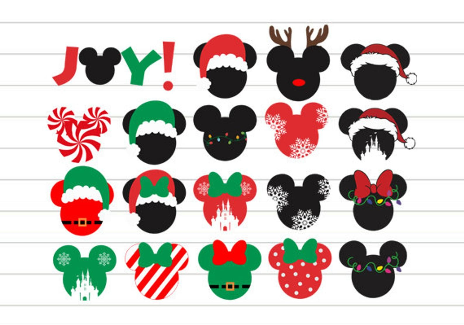 INSTANT DOWNLOAD Mickey Christmas Svg, Mickey Ears
