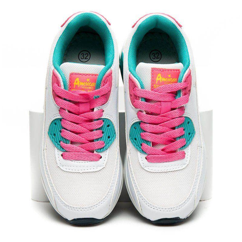 d8b89b27 #Buty sportowe dziecięce #Dla dzieci #AmericanClub #American #Club #Białe # Modne #Buty #Sportowe