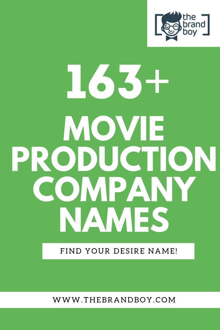 463 Best Movie Production Company Names Thebrandboy Movie