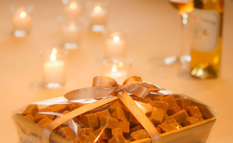 BYOUS Scottish tablet on a tray, perfect for a party gift or corporate event