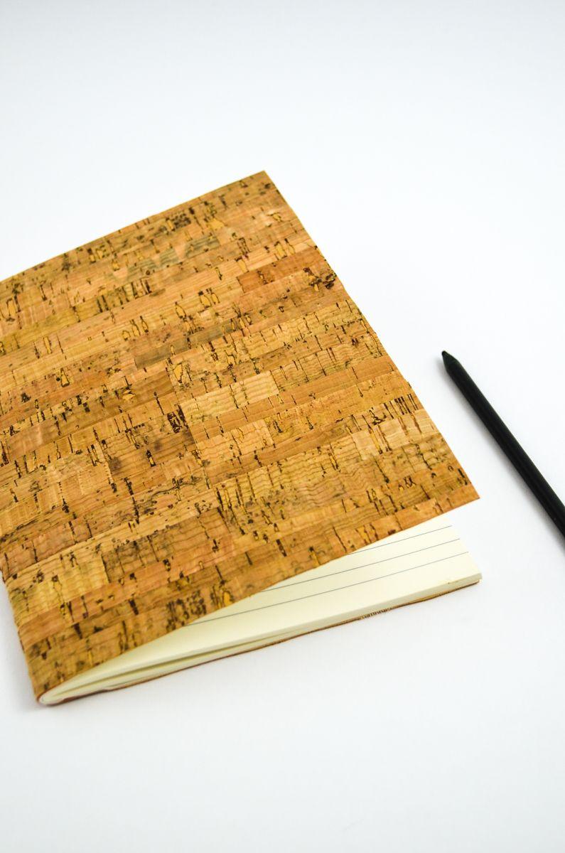 diy notizheft aus kork diy basteln selbst gemacht pinterest diy book binding und paper. Black Bedroom Furniture Sets. Home Design Ideas