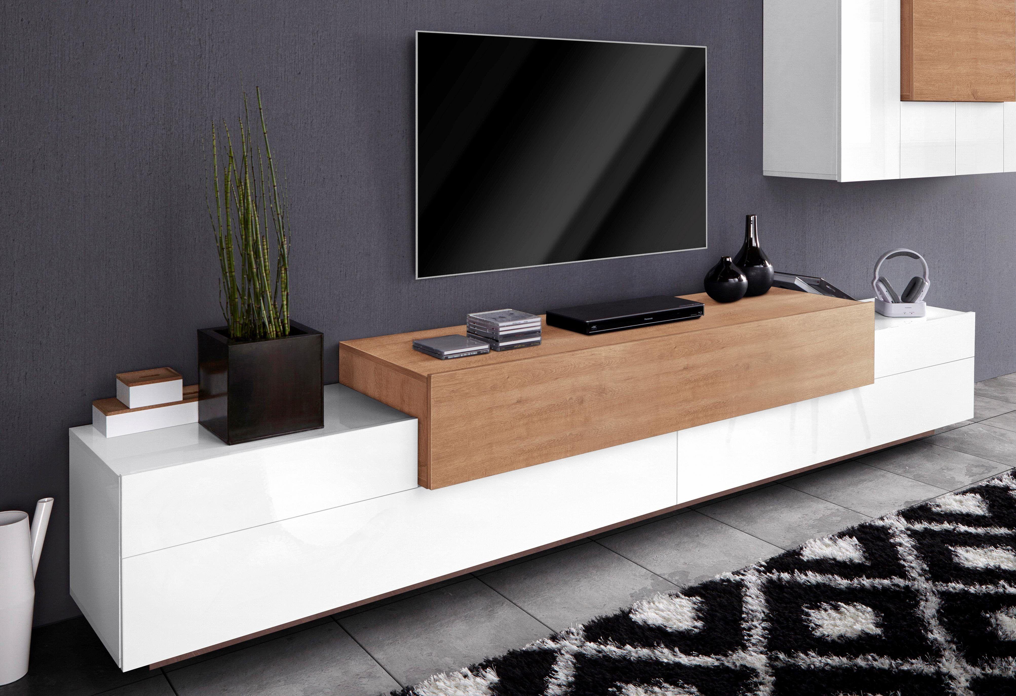 Wohnzimmer Hochglanz ~ Tecnos lowboard »asia« weiß hochglanz fronten fsc® zertifiziert