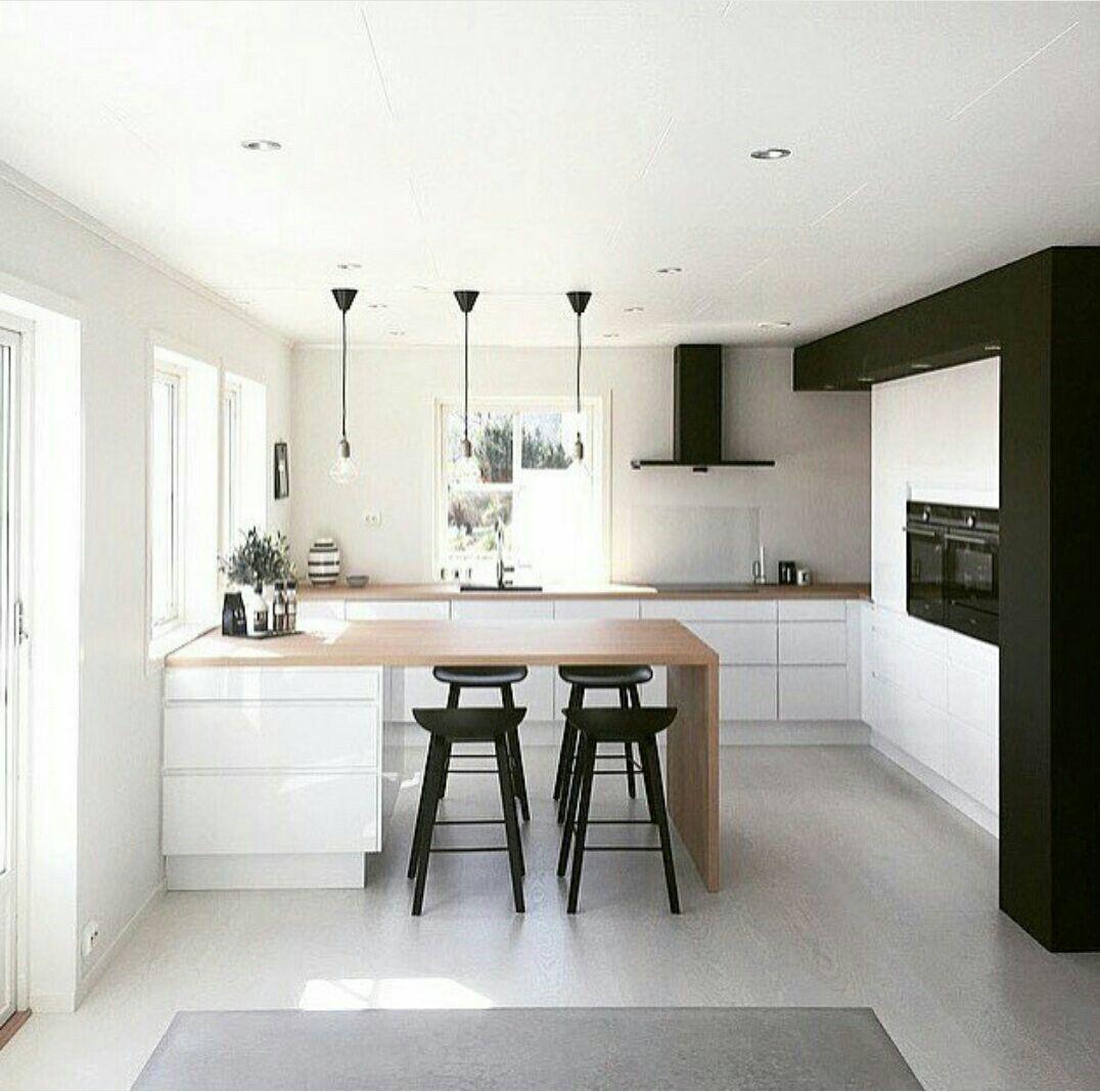 Le mur en contraste  Cocinas de casa, Diseño muebles de cocina