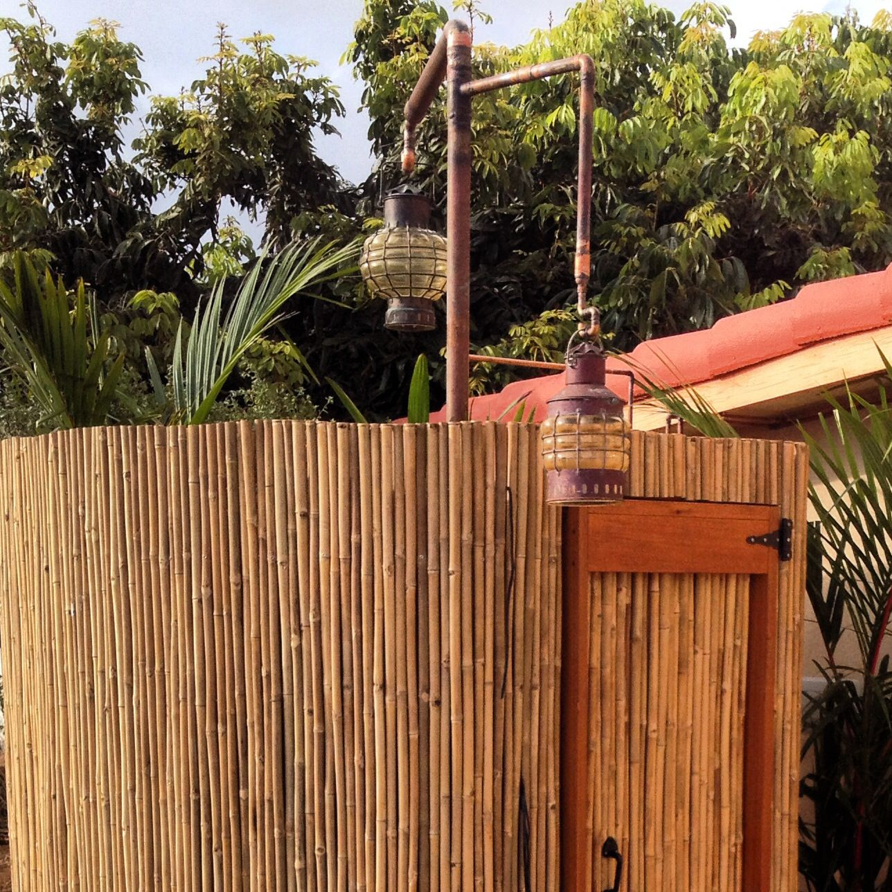 Bamboo Outdoor Shower Enclosures Bamboo Outdoor Shower Joslingroup Design