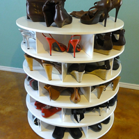 Lazy Susan for shoes!  Yes!