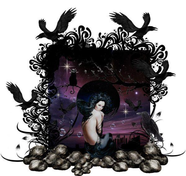 """Night"" by nonachka on Polyvore"