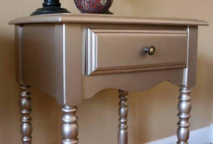alte möbel in silber streichen Silber Highlights Pinterest - alte küche streichen