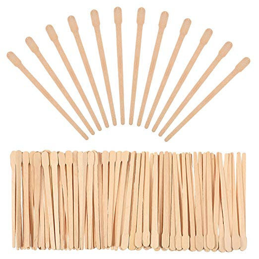Amazon Com Bememo 500 Pack Wax Spatulas Wood Craft Sticks Small