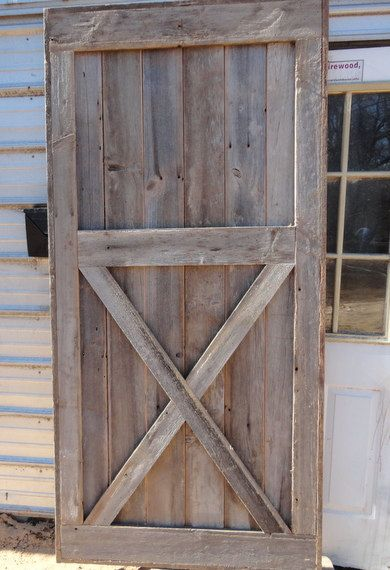 Half X Brace Barn Door Room Divider Made to Order from