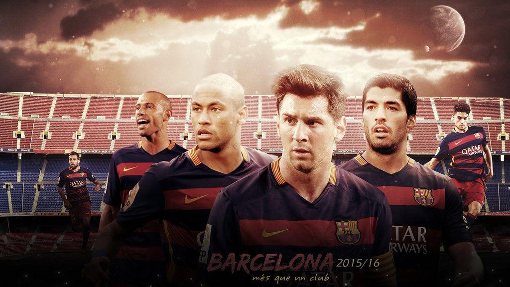 Messi, Suarez, Neymar - MSN Wallpaper by RakaGFX on DeviantArt