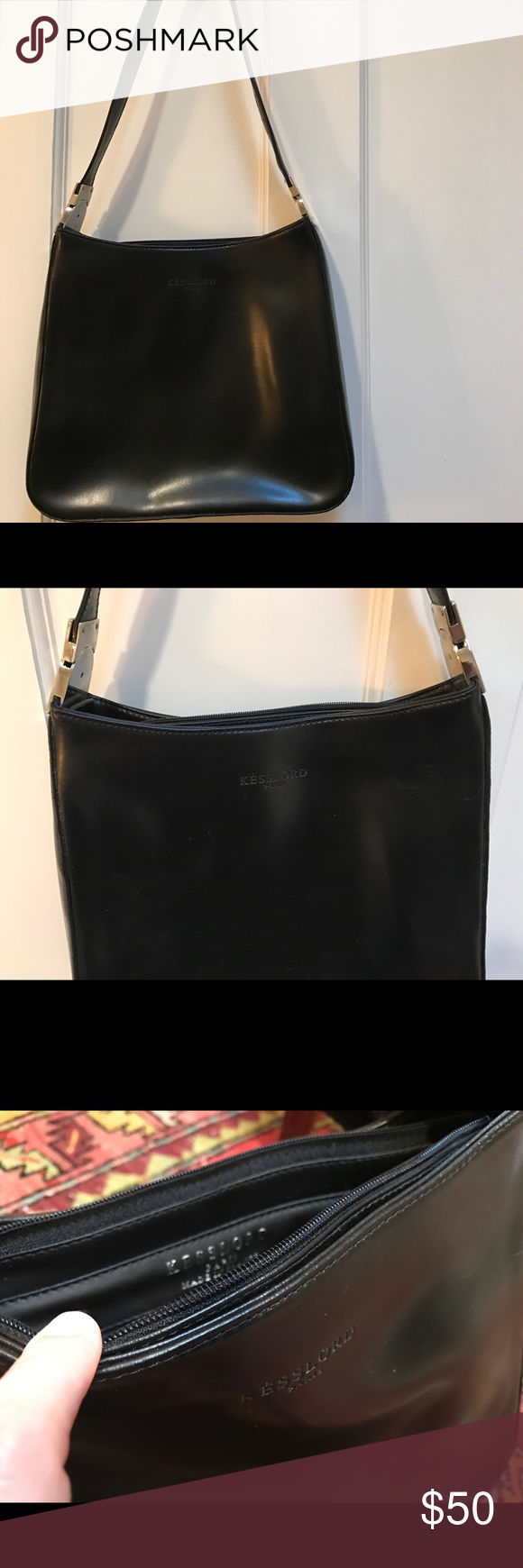 dab60ece48 Kesslord (Paris) black shoulder bag 😍 Clean inside and out